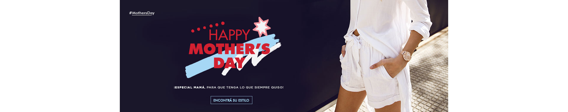banner mothers day style