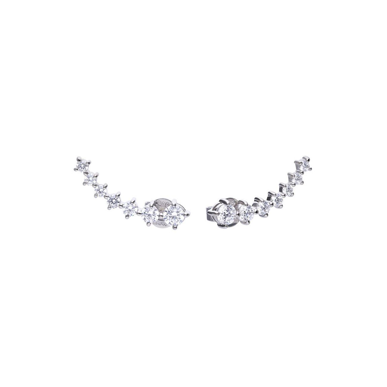 2a87a033987a Pendientes trepadores de plata Brilliant 6218111082 - Style Watch