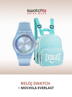 swatch y mochila